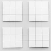 Reliëfs met draadlijnen - thema E (1973-1980)